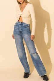 HYFVE Ribbed Knot Crop Sweater - Product Mini Image
