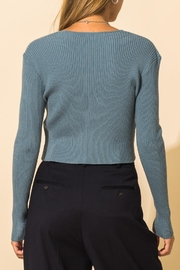 HYFVE Ribbed Knot Crop Sweater - Back cropped