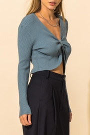 HYFVE Ribbed Knot Crop Sweater - Side cropped