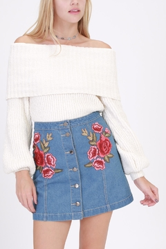 Shoptiques Product: Rose Embroidered Skirt