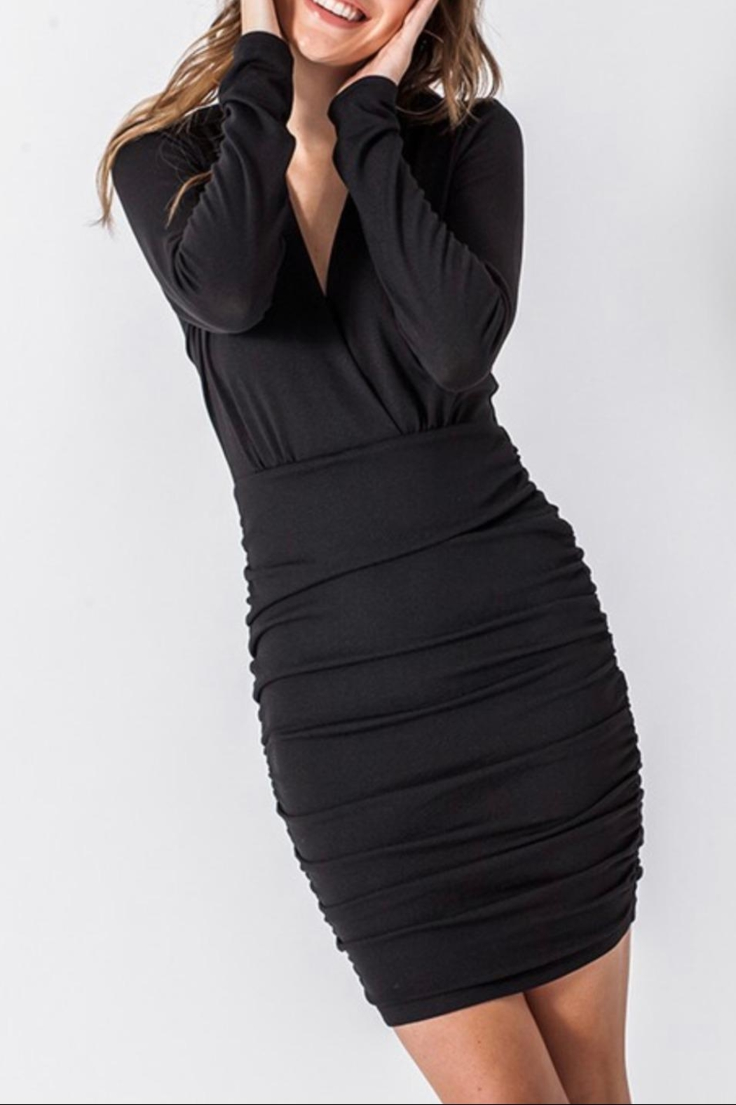 HYFVE Ruched Surplice Dress - Side Cropped Image
