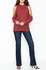 HYFVE Ruffle Neck Blouse - Side cropped