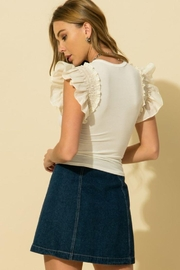 HYFVE Ruffle Smocking Detail Sleeve Top - Other
