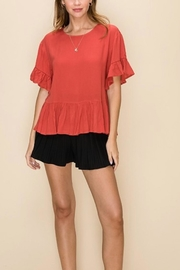 HYFVE Ruffle Trim Top - Product Mini Image