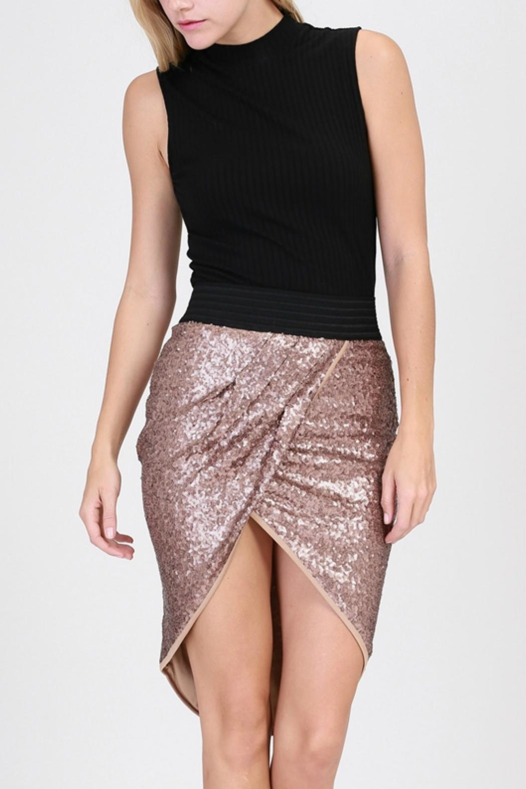 HYFVE Sequin Tulip Skirt - Front Cropped Image