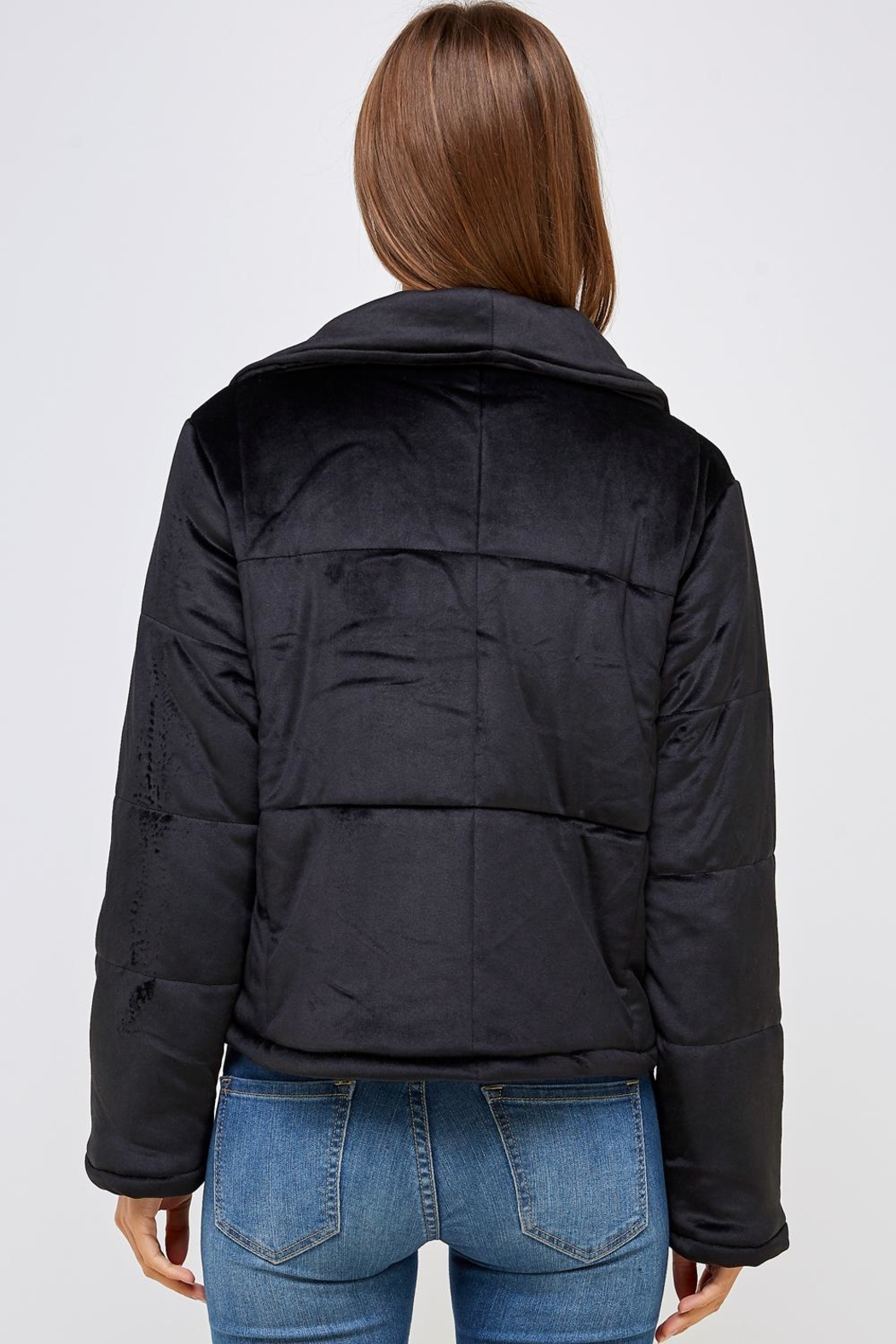 HYFVE Shawl Puffer Jacket - Back Cropped Image