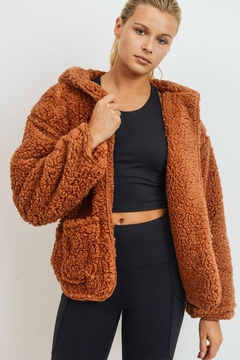 Shoptiques Product: Sherpa Hoodie Jacket