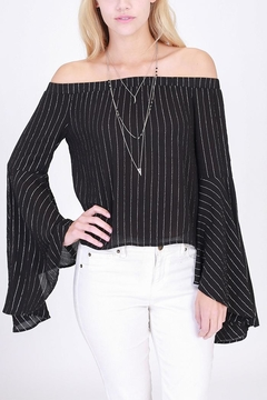 Shoptiques Product: Shimmery Off-Shoulder Top