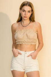 HYFVE Shirred Crop Cami Top - Front cropped