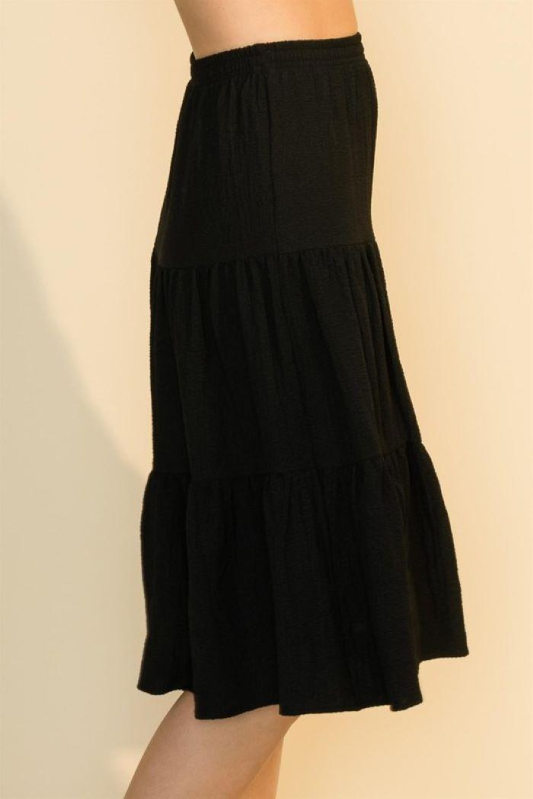 HYFVE Shirring With Ruffle Skirt - Back Cropped Image