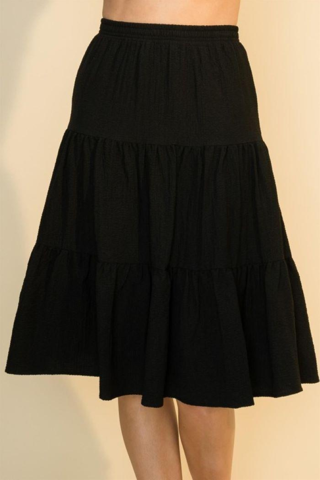 HYFVE Shirring With Ruffle Skirt - Main Image