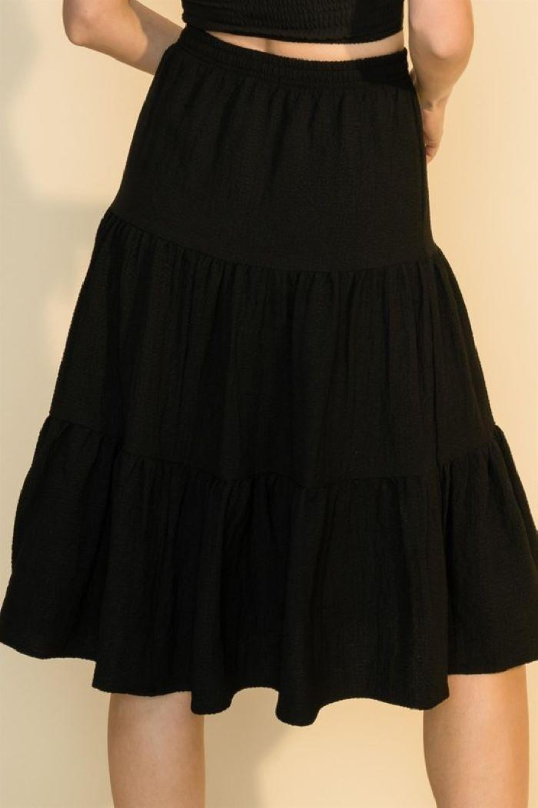 HYFVE Shirring With Ruffle Skirt - Side Cropped Image