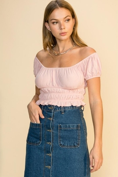 Shoptiques Product: Short-Sleeve Crop Top