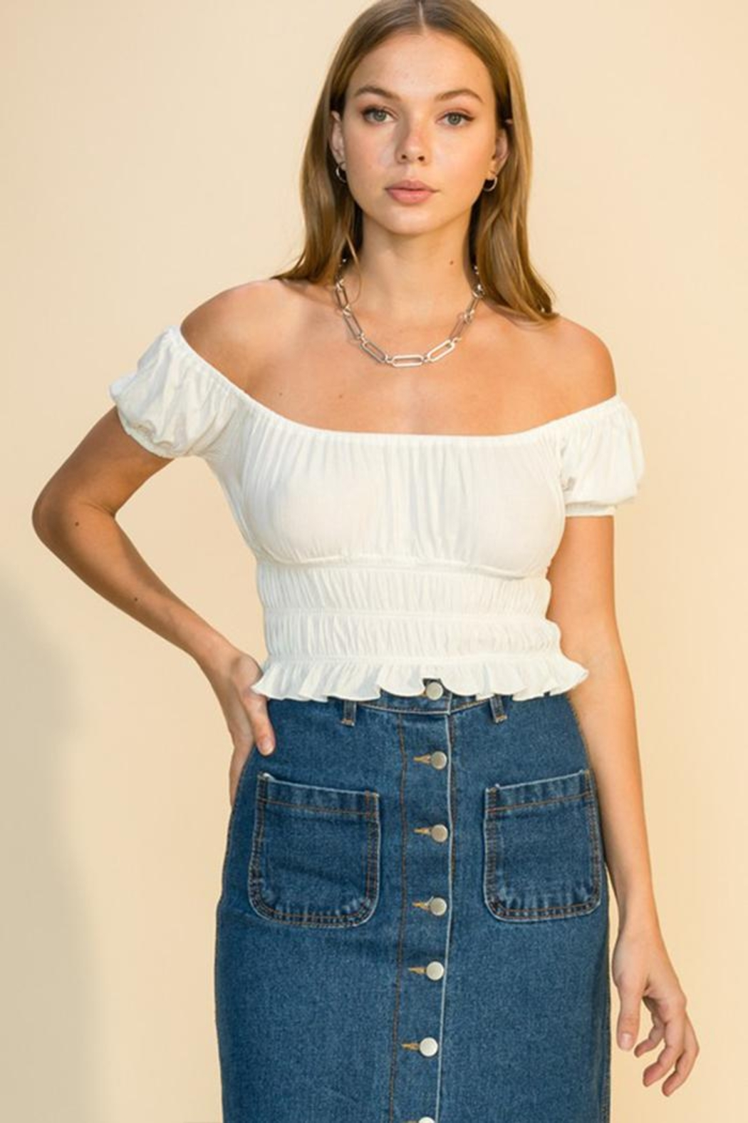 HYFVE Short-Sleeve Crop Top - Front Cropped Image