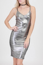 HYFVE Silver Metalic Dress - Product Mini Image