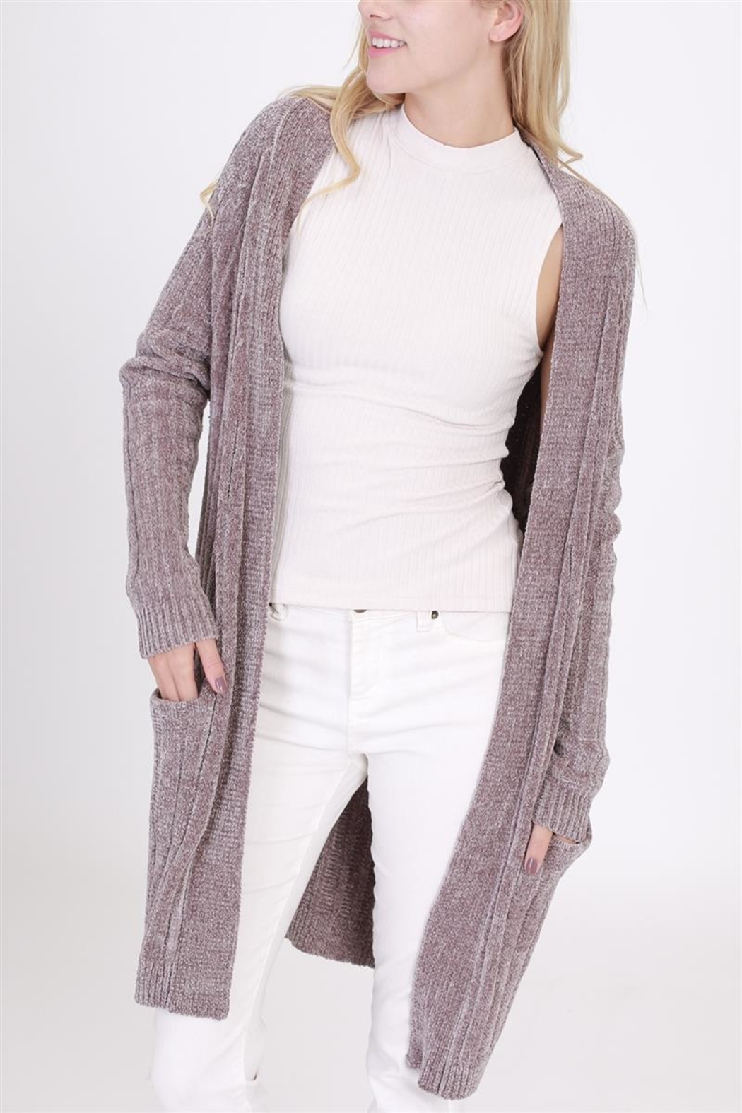 HYFVE Soft Cardigan Sweater - Front Cropped Image