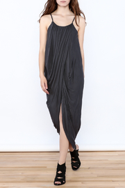 HYFVE Charcoal Drapey Sleeveless Dress - Front full body