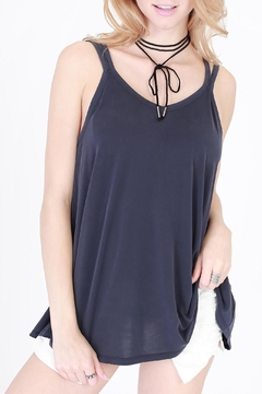 Shoptiques Product: Navy Strappy Tank Top