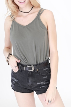 Shoptiques Product: Olive Strappy Tank Top