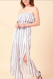 HYFVE Strapless Stripe Jumpsuit - Front cropped