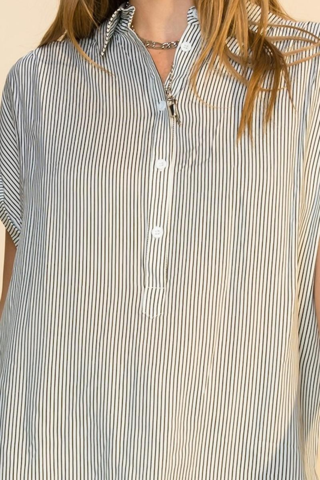 HYFVE Stripe Button Up Top - Side Cropped Image