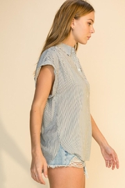 HYFVE Stripe Button Up Top - Front full body