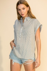 HYFVE Stripe Button Up Top - Front cropped