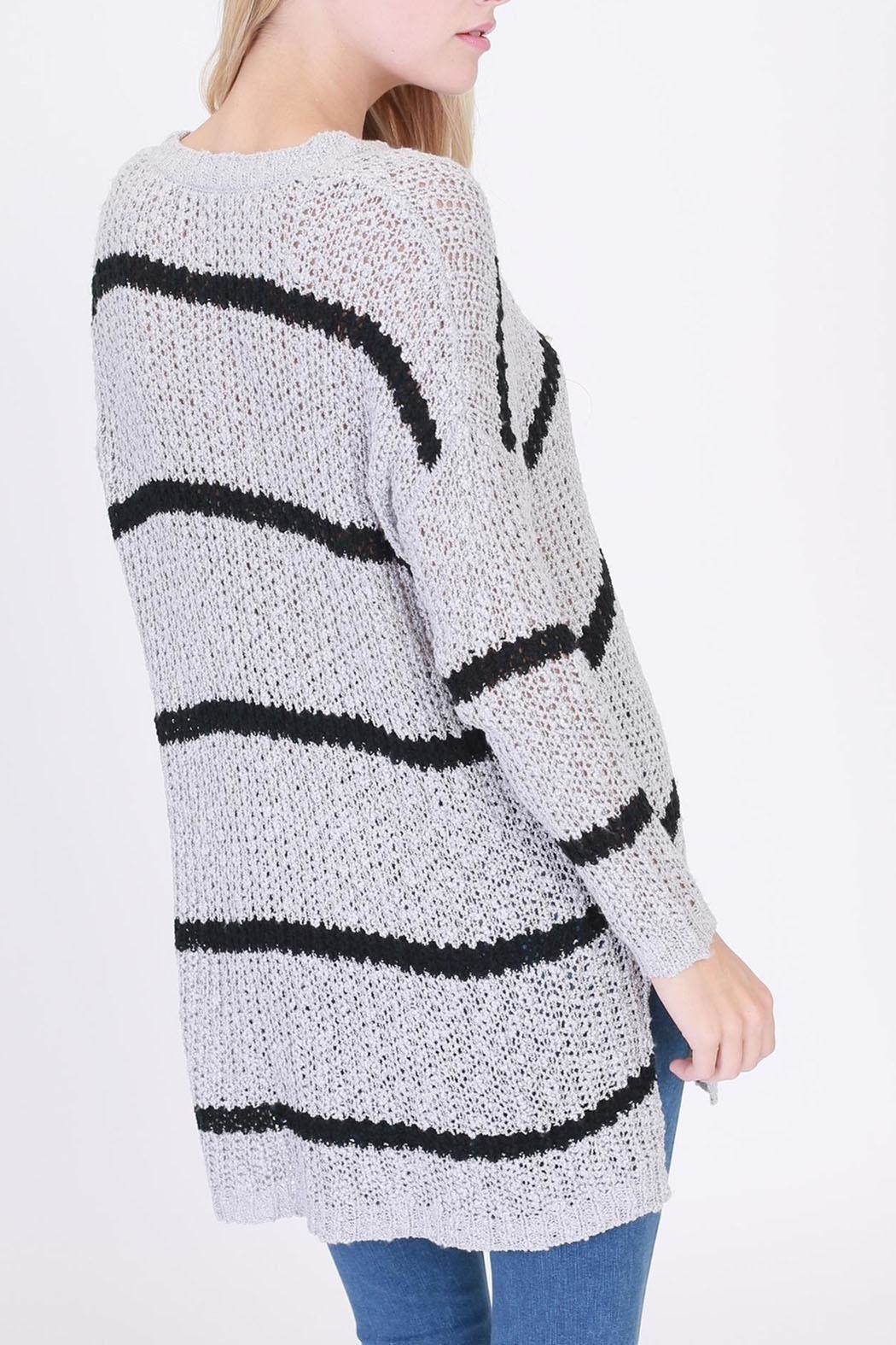 HYFVE Striped Pocketed Sweater - Side Cropped Image