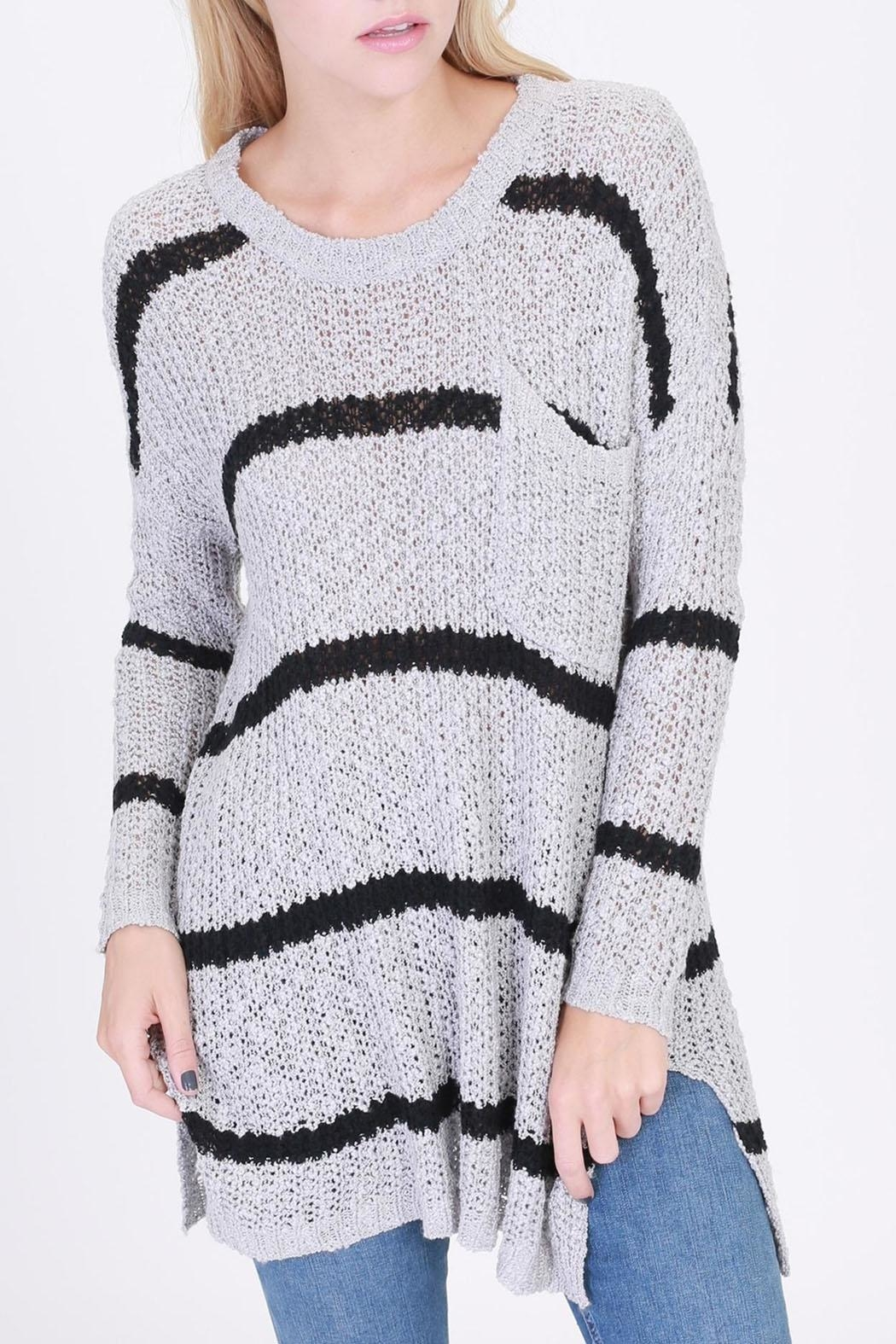 HYFVE Striped Pocketed Sweater - Main Image