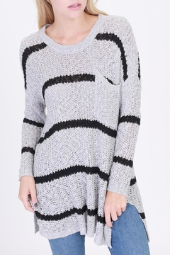 Shoptiques Product: Striped Pocketed Sweater
