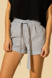 HYFVE Stripe Waist Tie Shorts - Product Mini Image