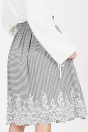 HYFVE Striped Embroidered Skirt - Side cropped