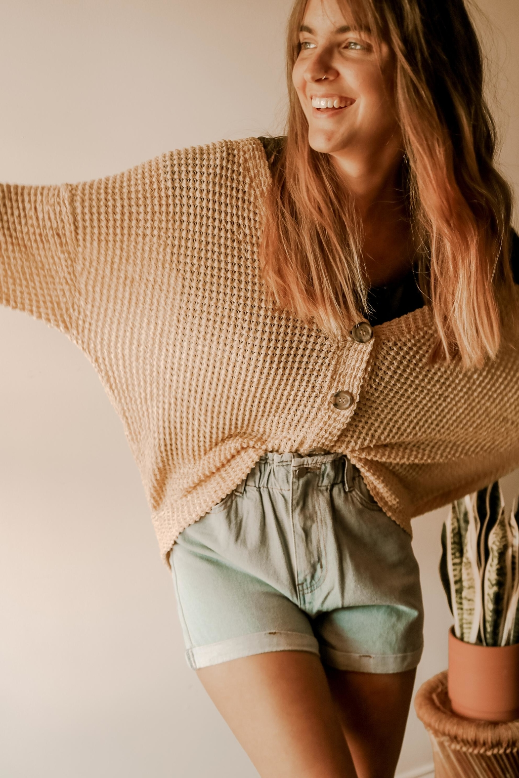 HYFVE The Flora Cardigan - Front Cropped Image