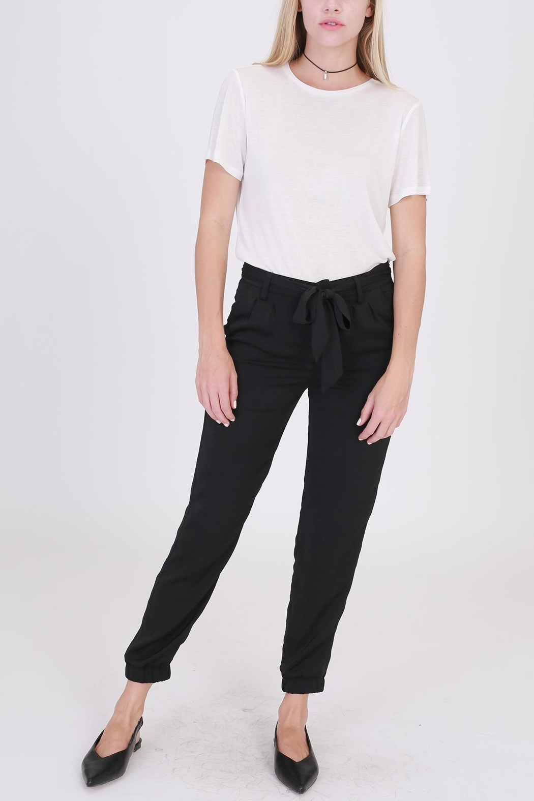 HYFVE Tie Front Pants - Front Cropped Image