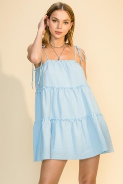Shoptiques Product: Tie Strap Cami Tiered Dress