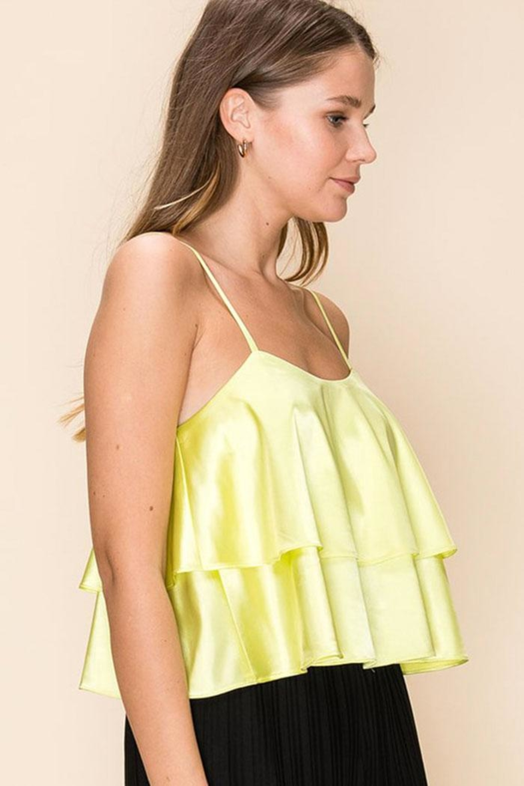 HYFVE Tiered Ruffle Cami - Front Full Image