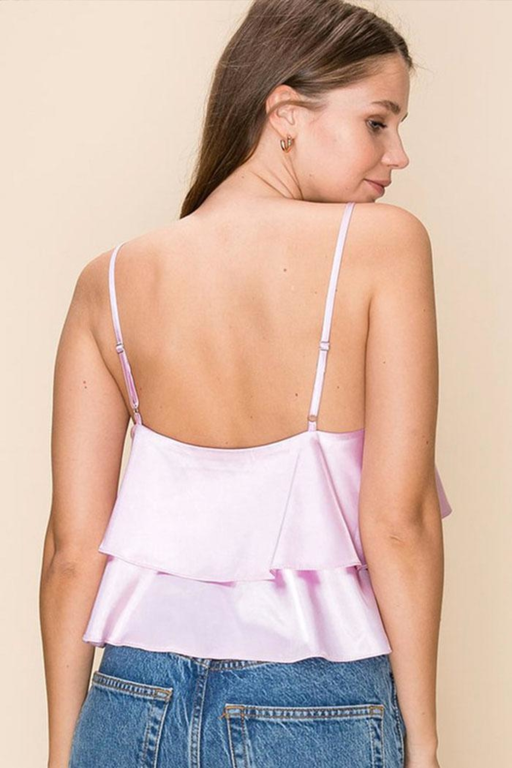 HYFVE Tiered Ruffle Cami - Side Cropped Image
