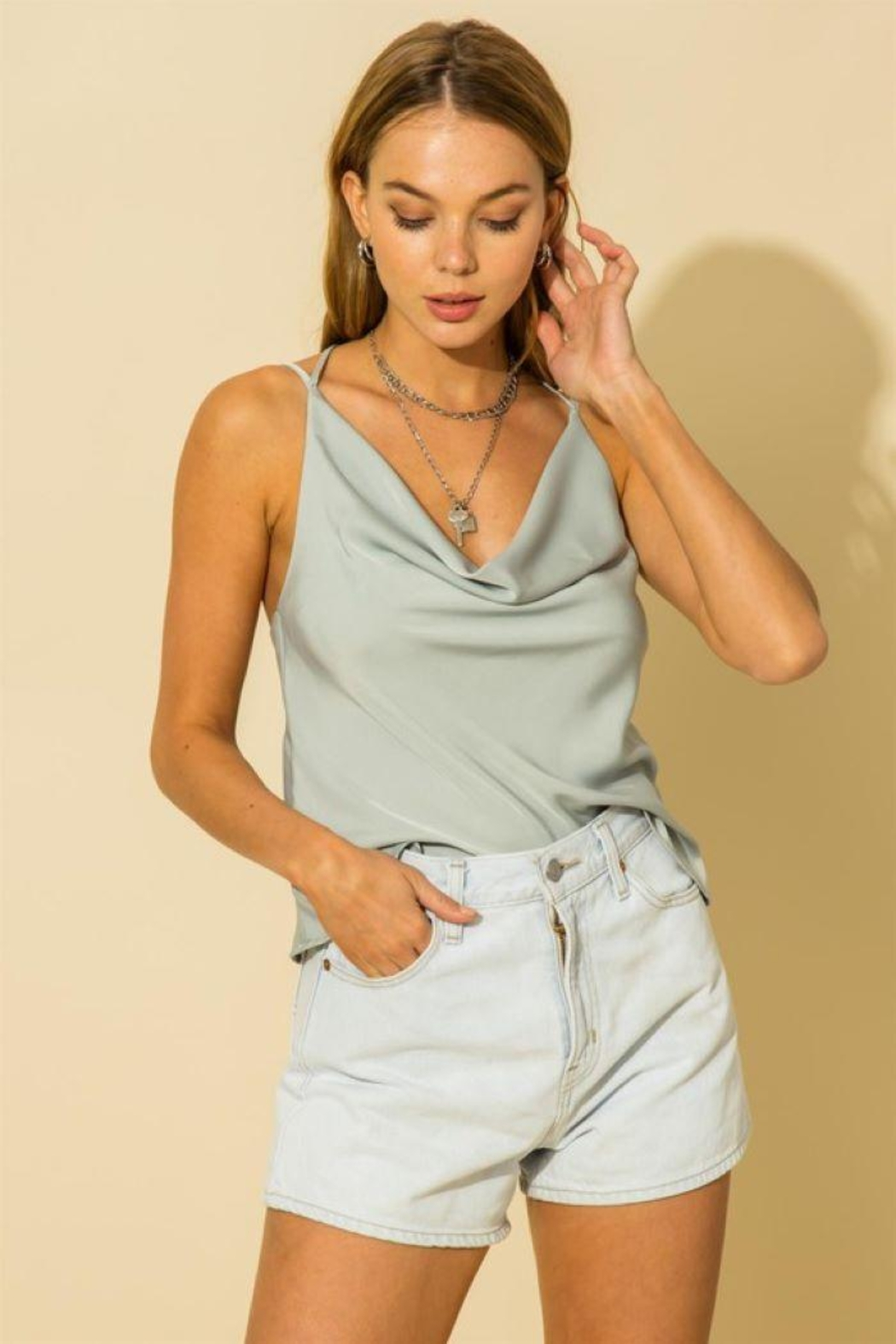 HYFVE Two Strap Cami Top - Front Cropped Image
