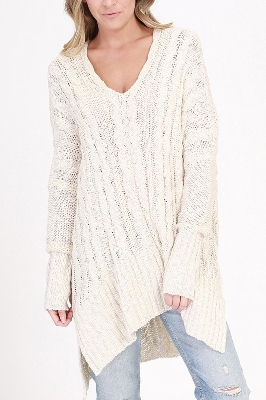 HYFVE V-Neck Cable-Knit Sweater from Illinois by The Colette ...
