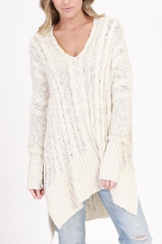 HYFVE V-Neck Cable-Knit Sweater - Product Mini Image