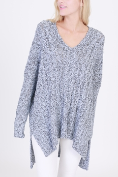 Shoptiques Product: V-Neck Cable-Knit Sweater