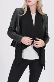 HYFVE Vegan-Leather Mixed-Media Jacket - Product Mini Image