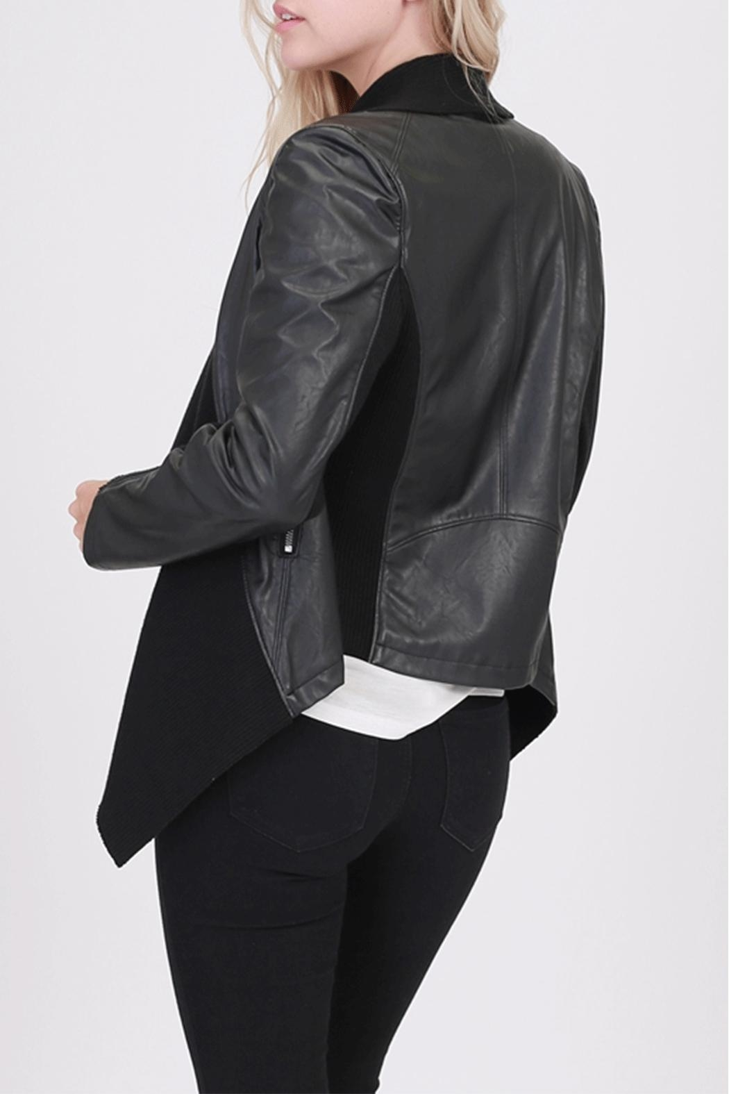 HYFVE Vegan-Leather Mixed-Media Jacket - Front Full Image