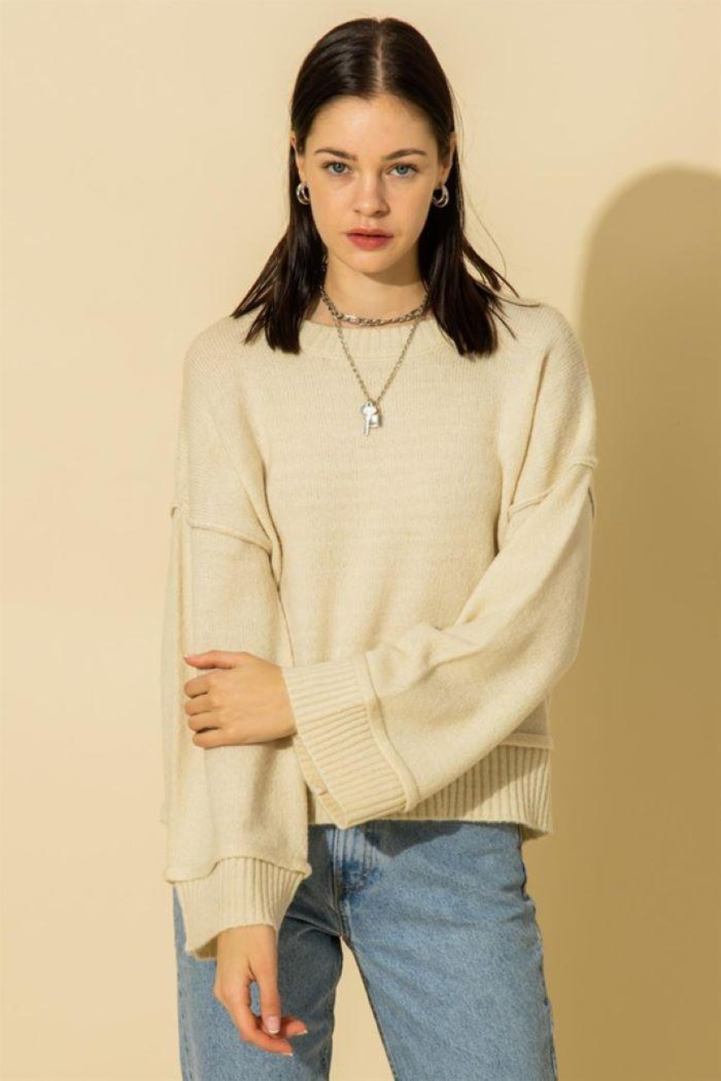 HYFVE Wide Sleeve Pullover Sweater - Front Cropped Image