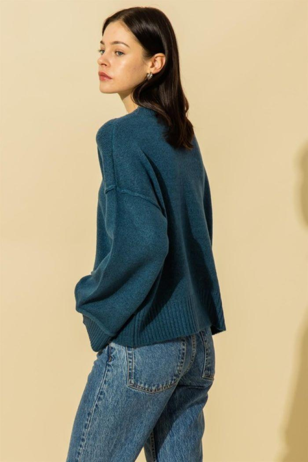 HYFVE Wide Sleeve Pullover Sweater - Back Cropped Image