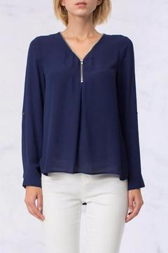 Shoptiques Product: Zipper Chiffon Blouse