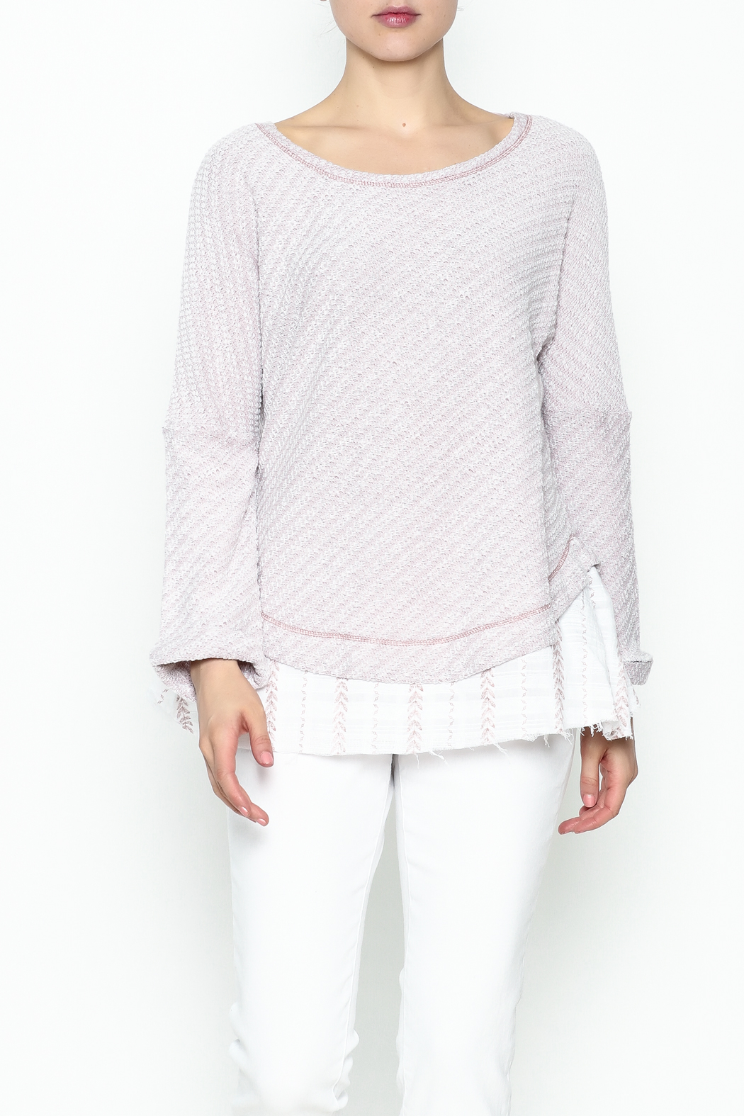 Hyku Knit Layered Top - Front Cropped Image