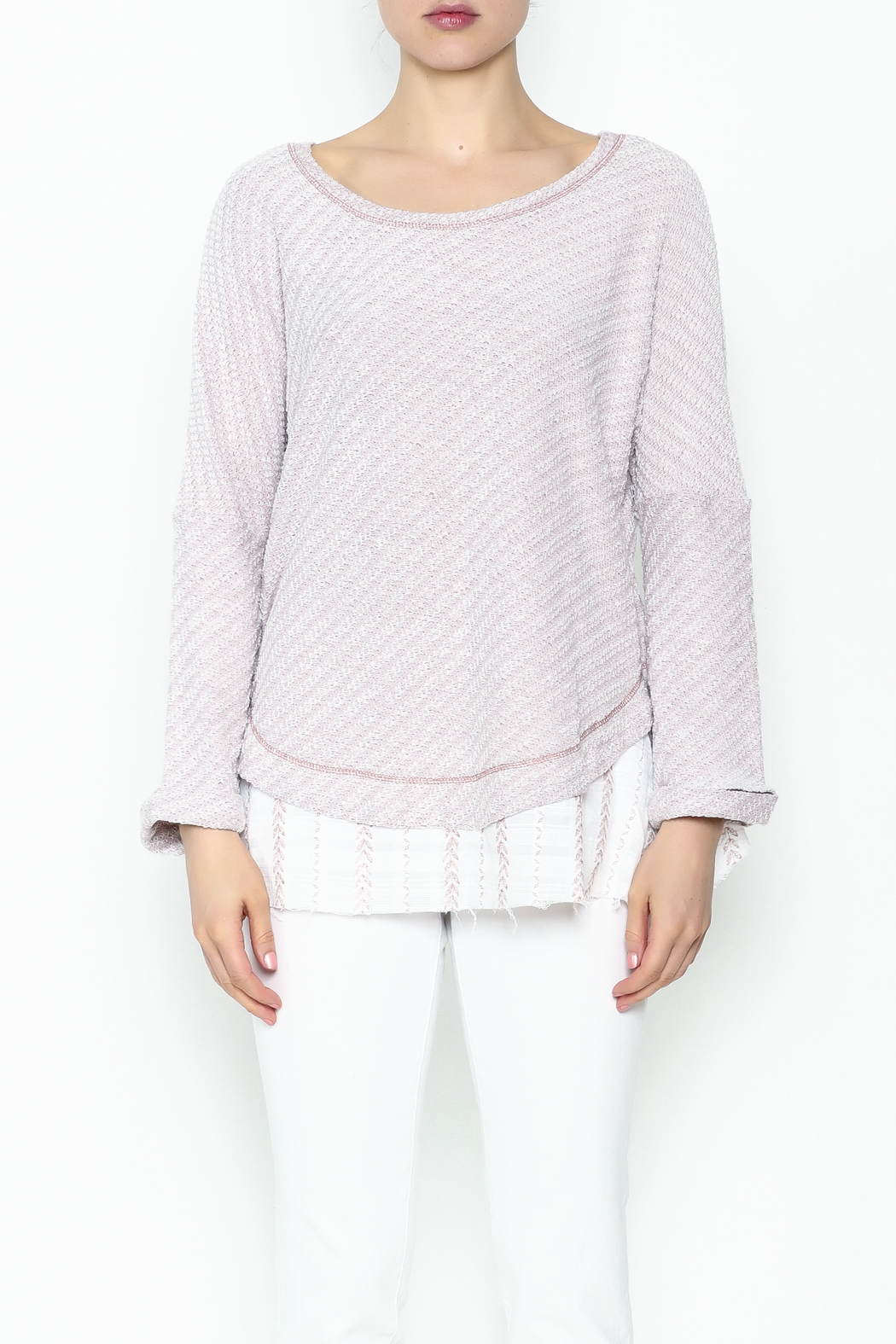 Hyku Knit Layered Top - Front Full Image