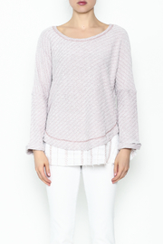 Hyku Knit Layered Top - Front full body