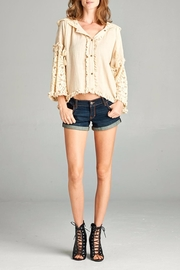 Hyku Lacy Sleeve Button Down - Product Mini Image
